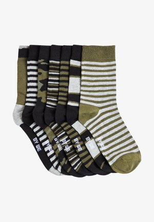 7 PACK - Socks - olive black