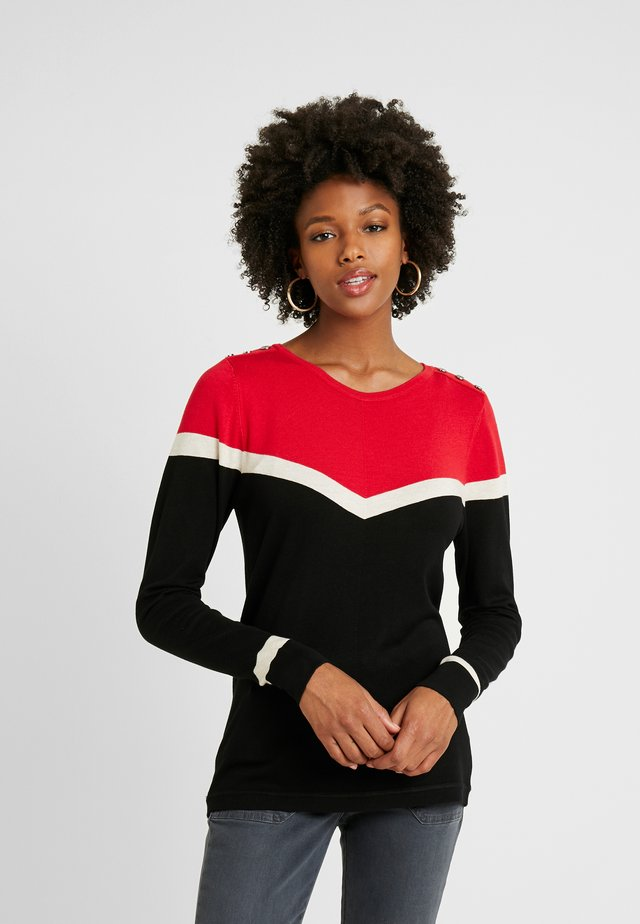 TALL BIG CHEVRON JUMPER - Neule - red