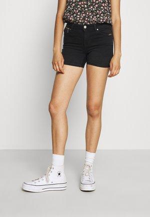 ONLISA LIFE ZIP - Short en jean - black denim