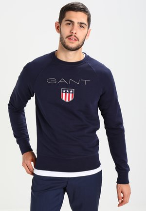 SHIELD C NECK - Sweater - evening blue
