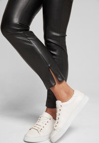 JOOP! - SARA - Leather trousers - black - 3