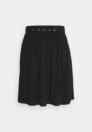 SLFWYNONA SHORT SKIRT - A-line skirt - black