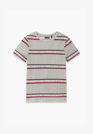 STRIPE - T-shirt imprimé - gris