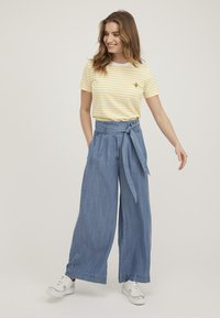 Oliver Bonas - CHAMBRAY  - Trousers - blue - 1