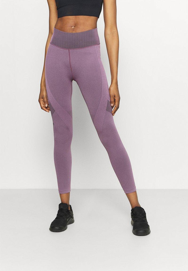 Under Armour - RUSH SEAMLESS ANKLE - Leggings - polaris purple
