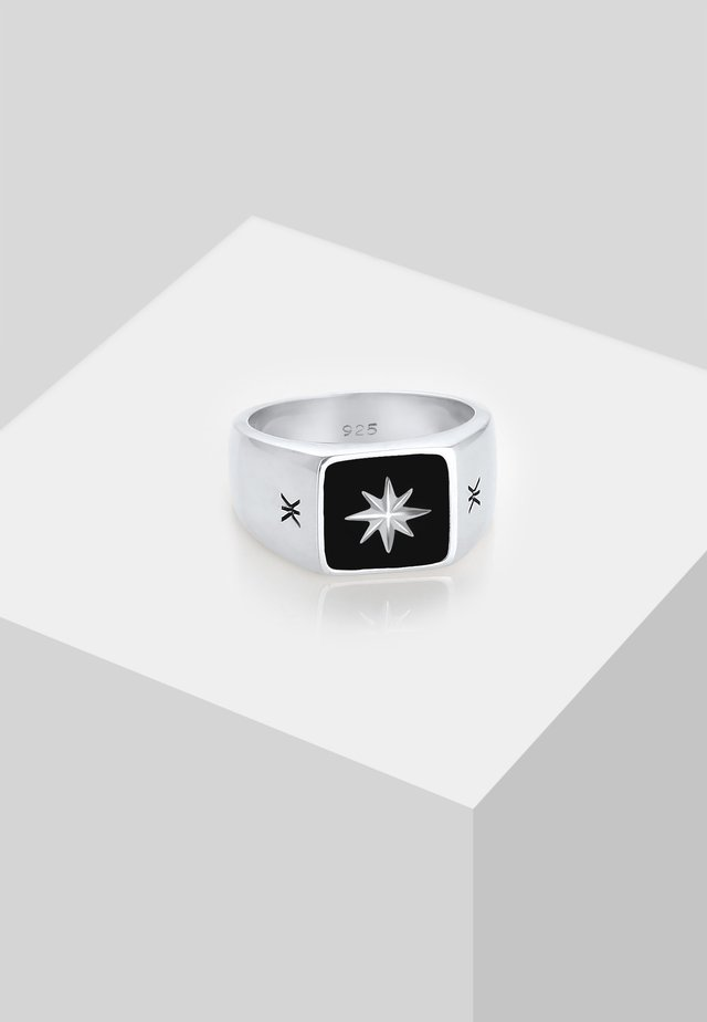 COMPASS LOOK CHUNKY - Bague - silber