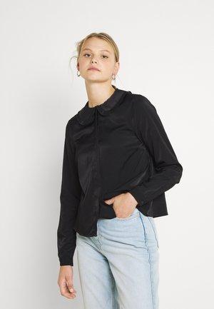 VMANNY COLLAR - Button-down blouse - black
