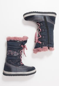 Lurchi - ALPY-TEX - Winter boots - navy/rose - 0