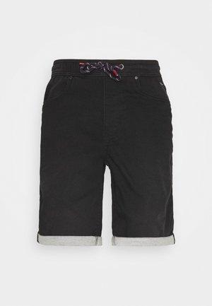 JOGG SHORTS - Jeansshorts - denim black