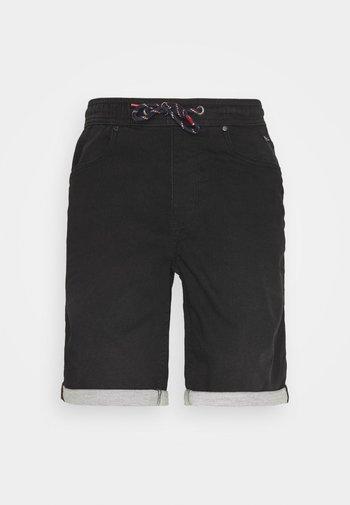 JOGG SHORTS - Denim shorts - denim black