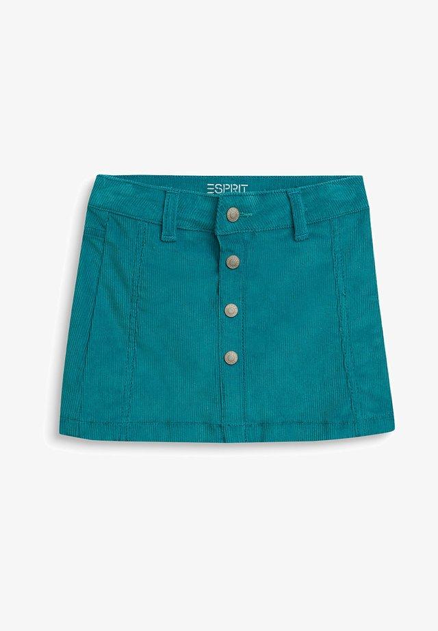 A-line skirt - dark teal green