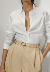 Massimo Dutti - Button-down blouse - white - 4