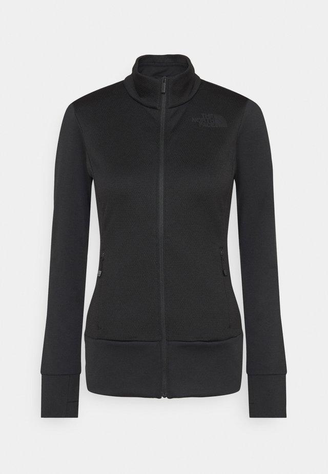 CRODA ROSSA TIN - Zip-up hoodie - black