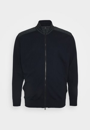 KELBY ZIP CARDIGANFINE GAUGE  - Kardigan - washed navy