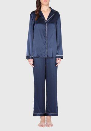 JACKE IM HERRENSCHNITT AUS SATIN UND SEIDE - Pyjama top - blue