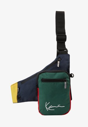 SIGNATURE BLOCK BODY BAG - Ledvinka - navy/green/yellow/red