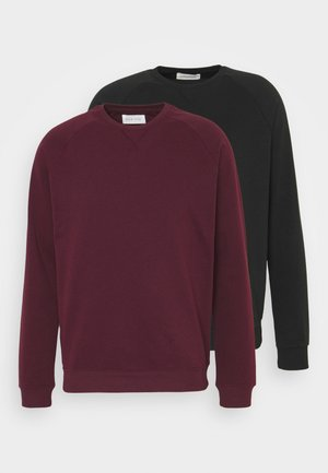 2 PACK - Felpa - bordeaux/black