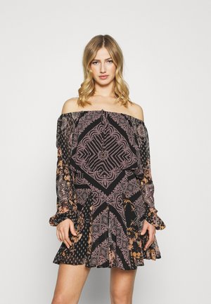 SEVEN WONDERS MINI - Robe d'été - black combo