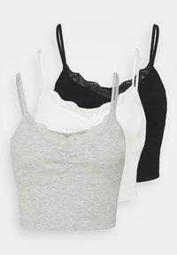 Even&Odd Petite - 3 PACK - Topper - black/white/mottled light grey - 0
