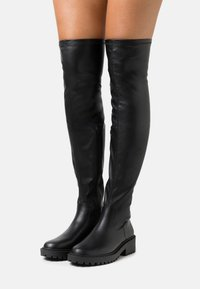 Rubi Shoes by Cotton On - LUG SOLE BOOT - Overknee laarzen - black - 0