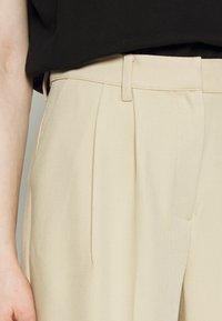 NA-KD - MATHILDE GØHLER SUIT PANTS - Trousers - beige - 3