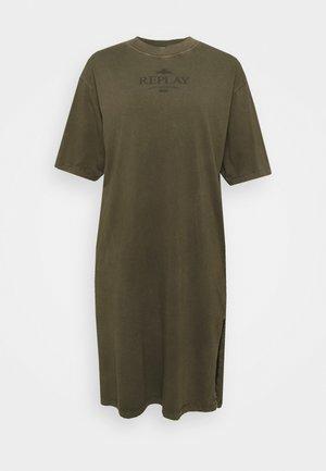 DRESS - Jersey dress - khaki