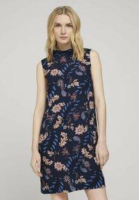 TOM TAILOR - Day dress - navy floral design - 0
