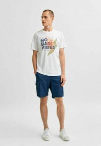 Selected Homme - STATEMENT - T-shirt med print - bright white - 1