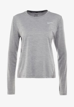 MILER TOP - Funktionströja - gunsmoke/heather/silver