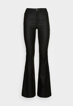ONLHELLA RETRO FLARED - Trousers - black