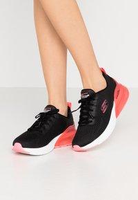 Skechers Sport - SKECH-AIR STRATUS - Slip-ons - black/hot pink - 0