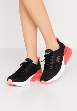 SKECH-AIR STRATUS - Slip-ons - black/hot pink