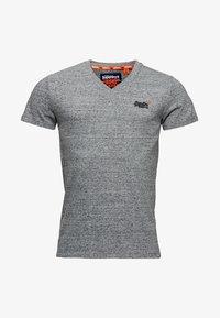 Superdry - VINTAGE  - T-shirt basic - flint stahlgrau gesprenkelt - 4