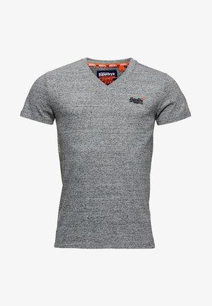 VINTAGE  - Basic T-shirt - flint stahlgrau gesprenkelt