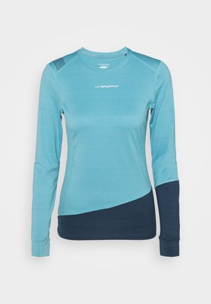 DASH LONG SLEEVE - Sports shirt - pacific blue/opal