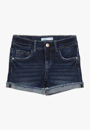 Denim shorts - dark blue denim