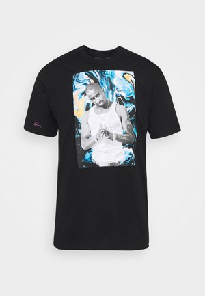 PAC PAINT - Print T-shirt - black
