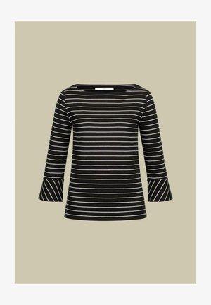 Long sleeved top - black/cream