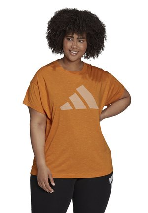 WIN 2.0 SPORTS PRIMEGREEN T-SHIRT LOOSE - Print T-shirt - focus orange mel