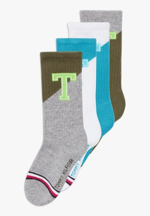 PATCH 4 PACK - Socks - blue/olive
