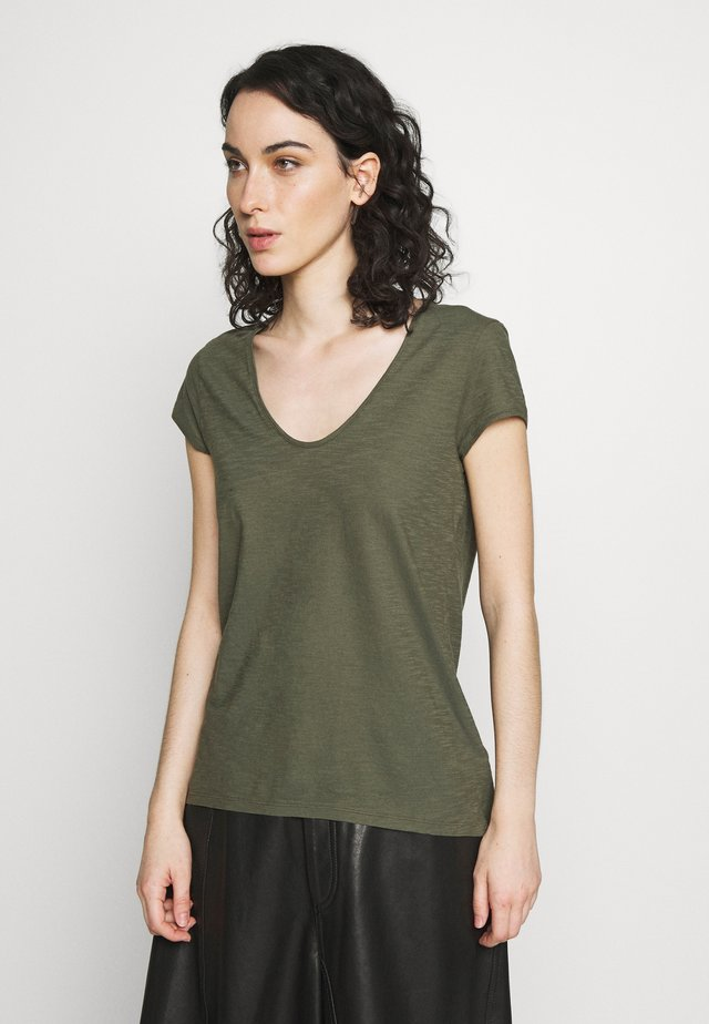 AVIVI - Jednoduché triko - olive
