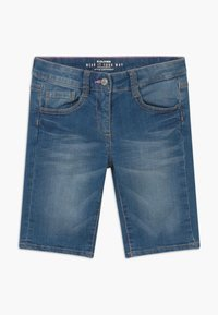 s.Oliver - BERMUDA - Denim shorts - blue denim - 0