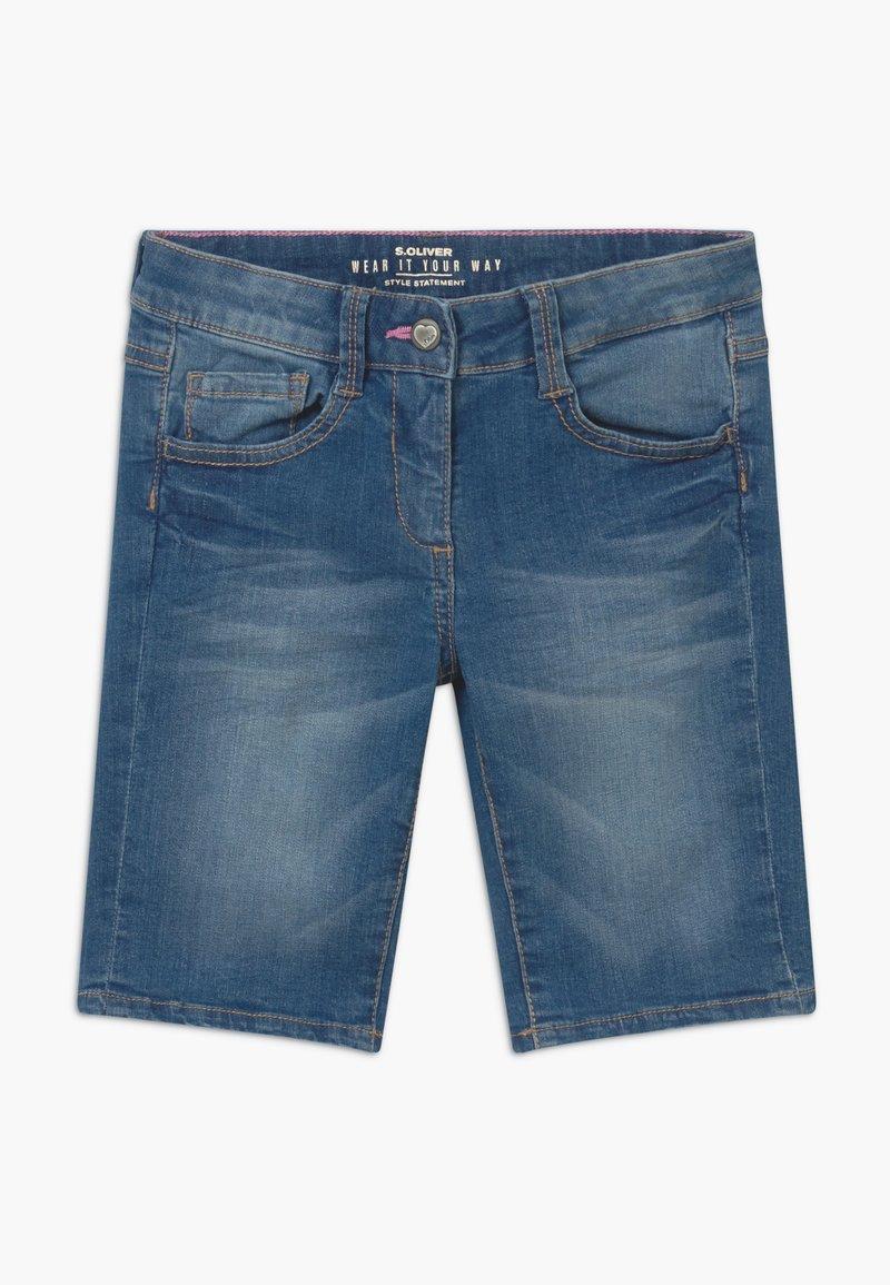 s.Oliver - BERMUDA - Denim shorts - blue denim