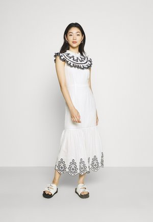 INDIE EMBROIDERED DRESS - Cocktail dress / Party dress - white