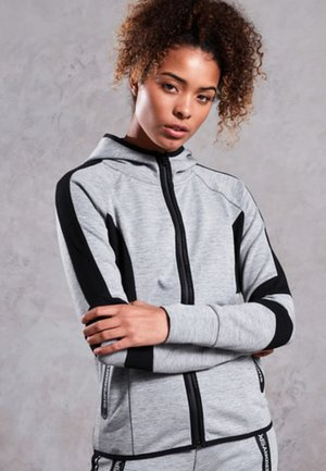 CORE GYM TECH PANEL  - veste en sweat zippée - light grey