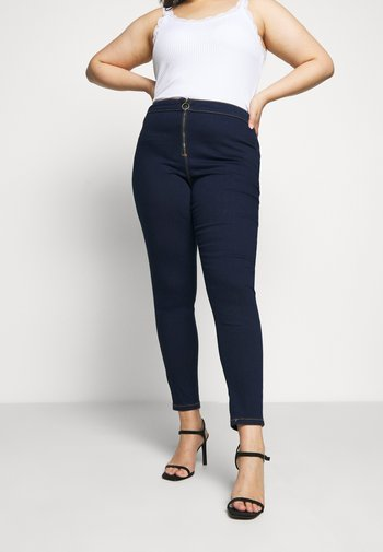 RING ZIP OUTLAW - Jeggings - deep blue