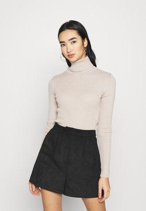 HIGH NECK - Pullover - beige
