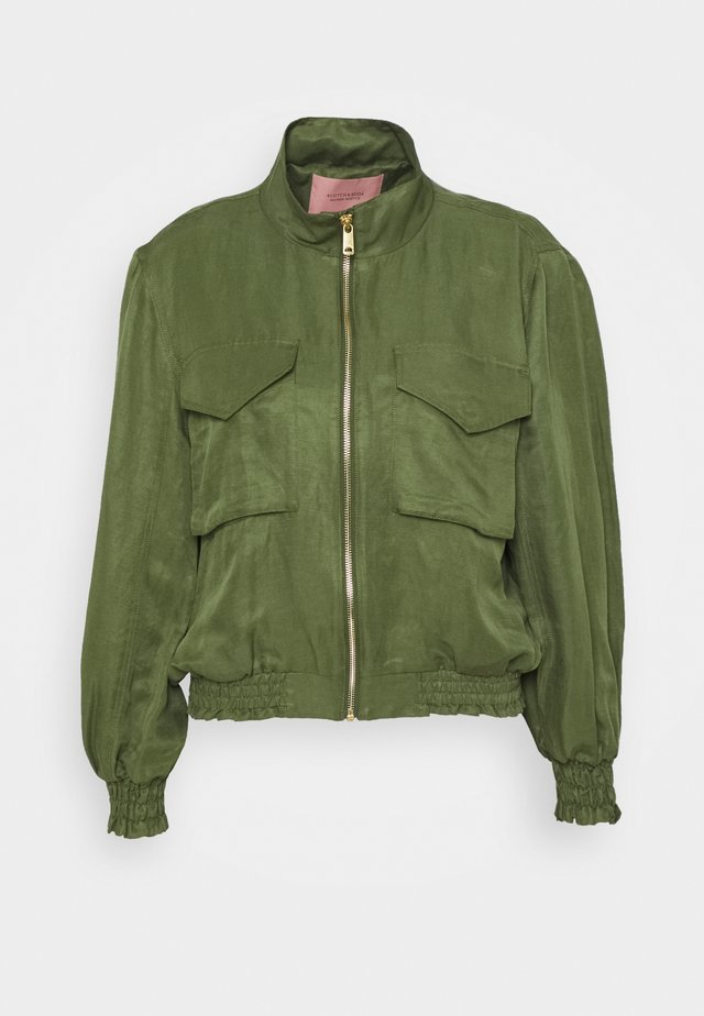 SHORT INBETWEEN JACKET IN BLEND - Chaqueta fina - military