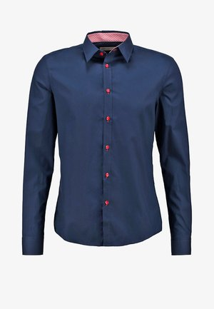 CONTRAST BUTTON SLIMFIT - Hemd - dark blue/red