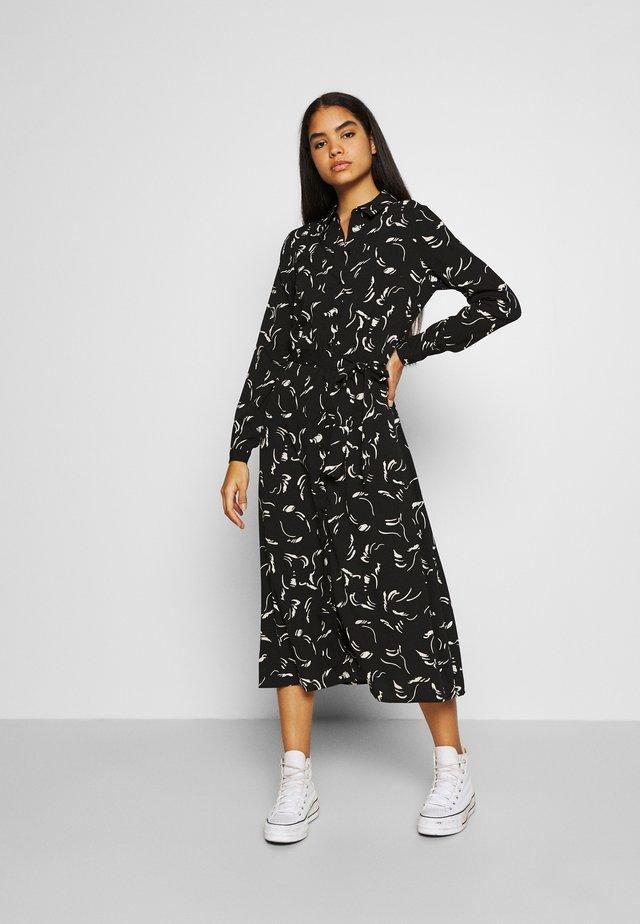 VMODEA CALF DRESS  - Robe chemise - black/odea birch